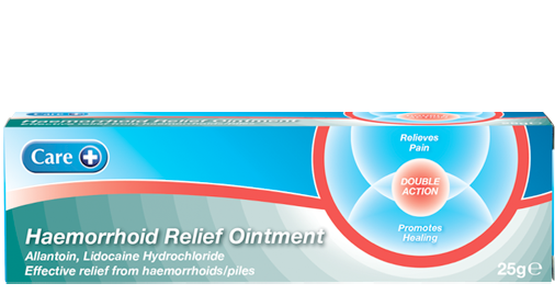 Haemorrhoid relief ointment pack shot