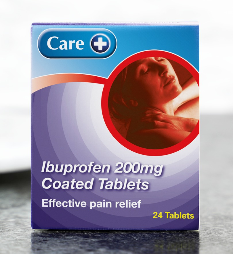 Care Ibuprofen 200mg Coated Tablets Pack