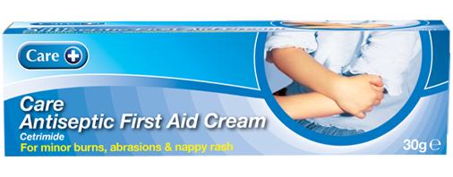 Antiseptic Cream for minor skin abrasions, burns and nappy rash